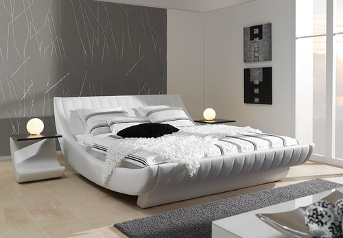 QUEEN TAMMARO  LEATHERETTE BED (CD012) - ASSORTED COLORS