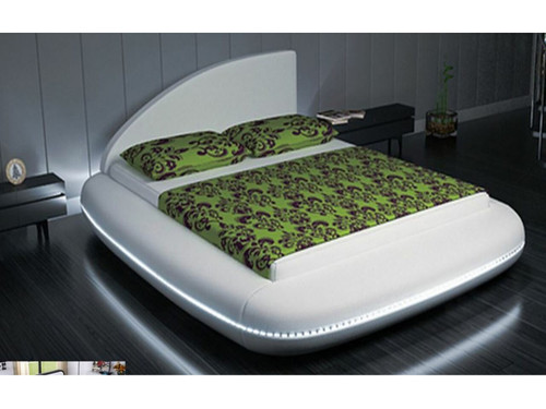 KING  LAVARO  LEATHERETTE BED  WITH 15 COLOURS  LED LIGHT (CD007) - ASSORTED COLORS