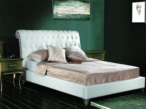 QUEEN WARWICK  LEATHERETTE BED WITH BUTTONS (CD030) - ASSORTED COLORS
