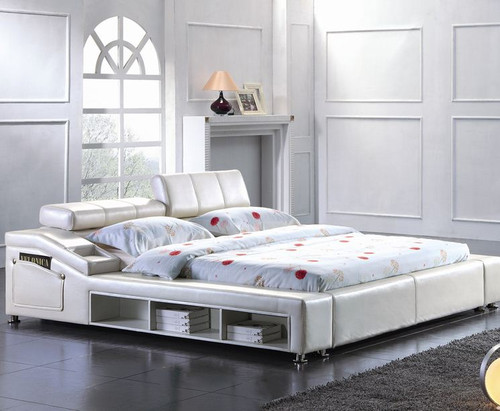 KING  SAMMY LEATHERETTE BED (CD020) - ASSORTED COLORS