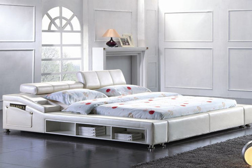 QUEEN SAMMY LEATHERETTE BED (CD020) - ASSORTED COLORS