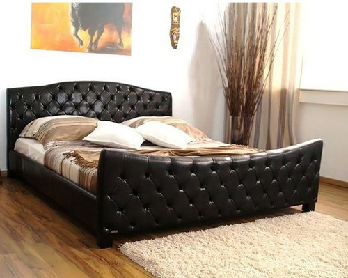 QUEEN BLITZ LEATHERETTE  FULL BUTTONED   BED  (CD031) - ASSORTED COLORS AVAILABLE
