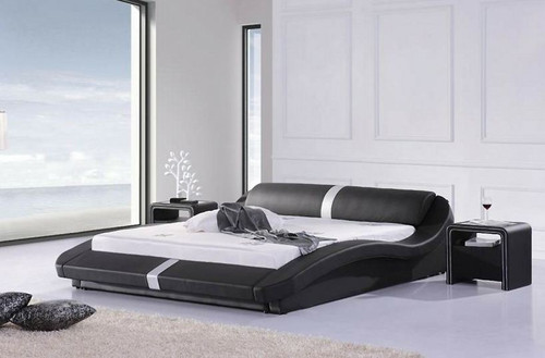 QUEEN MASOP  LEATHERETTE  BED  (CD033) - ASSORTED COLORS AVAILABLE