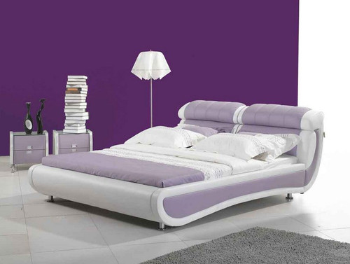 QUEEN LAURA LEATHERETTE  BUTTONED   BED  (CD034) - ASSORTED COLORS AVAILABLE