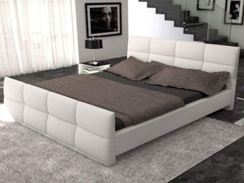 QUEEN VINCENTEE LEATHERETTE  BED  (CD039) - ASSORTED COLORS AVAILABLE