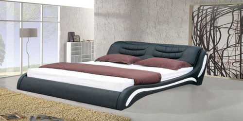 KING  JOBIC  LEATHERETTE   BED  (CD041) - ASSORTED COLORS AVAILABLE