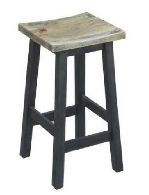 TOKYO KITCHEN  STOOL - SEAT: 645(H)  - BLACK / DISTRESSED TOP