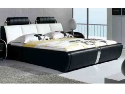 QUEEN SILAS LEATHERETTE  BED  (CD053) - ASSORTED COLORS AVAILABLE