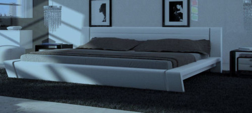 KING  FREMO LEATHERETTE   BED  (CD054) -  ASSORTED COLORS AVAILABLE