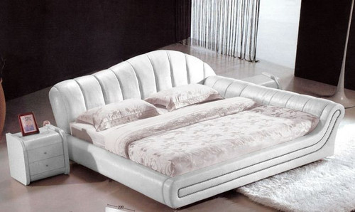 KING SAMYL LEATHERETTE   BED  (CD058) -  ASSORTED COLORS AVAILABLE