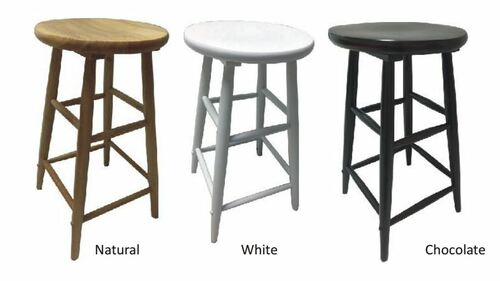 SCOOP  SEAT STOOL  (WOST-007) - SEAT:1050(H) - NATURAL , WHITE OR CHOCOLATE COLOURS AVAILABLE