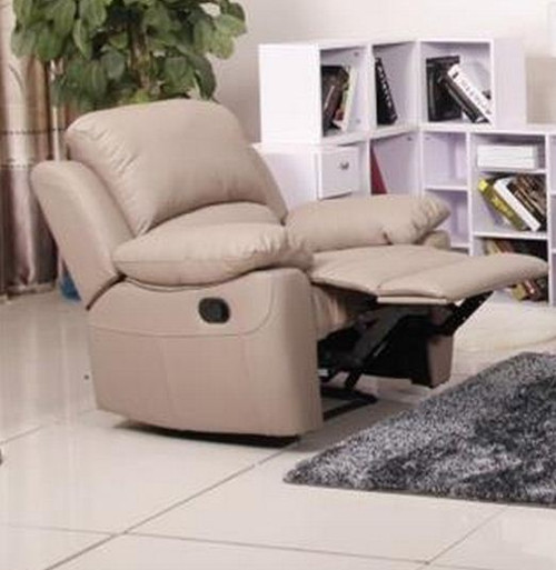 MAPUTO SINGLE  LEATHER RECLINER  CHAIR (MODEL-V-1706 -1-T)   - TAUPE