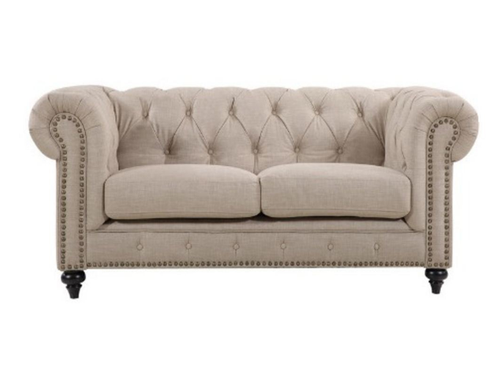 SOLOMONIA  TWO SEATER (2S)   FABRIC   SOFA LOUNGE -  (MODEL - 12-15-21-9-19-91-14-1) - PLAIN