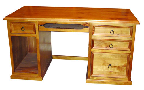 JAMIESON SOLID TIMBER DESK (WCDH-4D) - 1450(W) x 700(D) - AS PICTURED