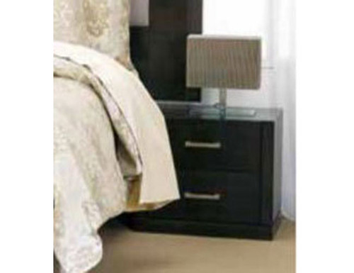 LANDON 2 DRAWER BEDSIDE  -  (22-15-7-21-5)   - SMOKE