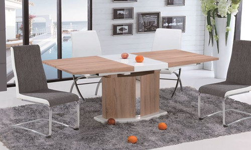 MARINO (OST0002) EXTENSION DINING TABLE ONLY (1300MM - 1700MM )  -  OAK / WHITE