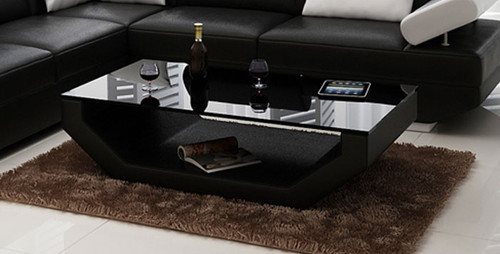 GORICA COFFEE TABLE (K5009B) - 1200(W) X 700(D)-  CHOICE OF LEATHER AND ASSORTED COLOURS AVAILABLE