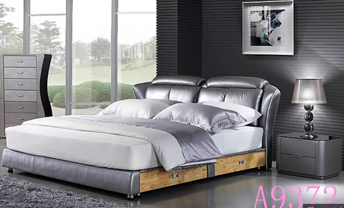 EVANS QUEEN  3 PIECE  LEATHERETTE 180#  BEDSIDE BEDROOM SUITE - (MODEL A9372)  - ASSORTED COLOURS