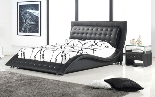 DOUBLE DOLCHE / LEXI (2780#) LEATHERETTE BED - ASSORTED COLOURS