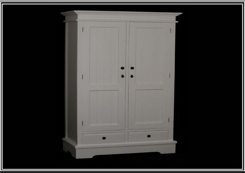 CASTRO 2 DOOR /  2 DRAWER WARDROBE (CAB152) - 1900(H) x 1100(W) - WHITE