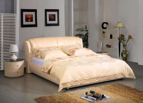LANZA KING 3 PIECE   LEATHERETTE BEDSIDE (57#) BEDROOM SUITE  (A857-B) - ASSORTED COLOURS