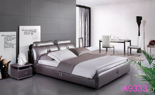 KING  KANDESTON LEATHERETTE   BED (MODEL- A9333) - ASSORTED COLORS (MADE TO ORDER)