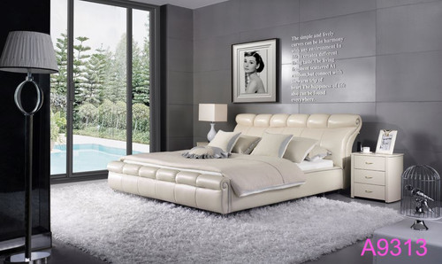 QUEEN  FOSTER  LEATHERETTE  BED  (MODEL - A9313) - ASSORTED COLOURS (MADE TO ORDER)