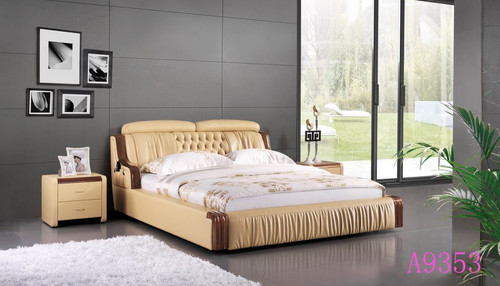 MADYSON  QUEEN  3 PIECE LEATHERETTE BEDSIDE (89#) BEDROOM SUITE  (A9353) - ASSORTED COLORS (MADE TO ORDER)