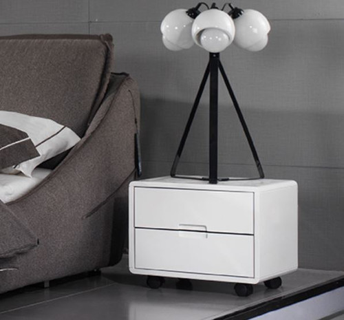JERICHO  2 DRAWER BEDSIDE TABLE (#158) - WHITE