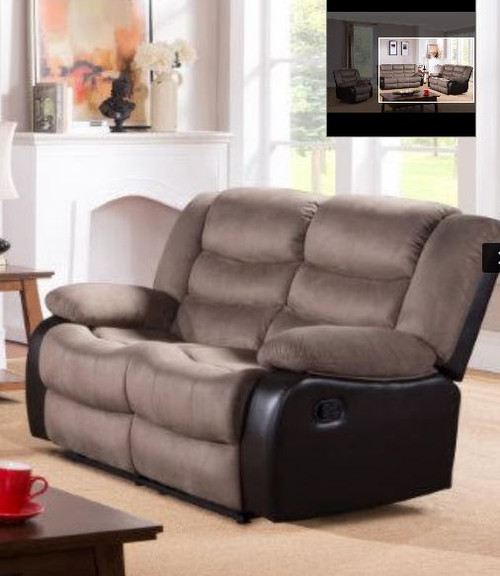 DAKOTA 2 SEATER RECLINER (DAKRR2)  - CARAMEL/ BROWN
