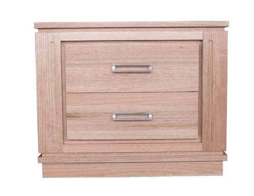 CASABLANCA TASSIE OAK 2 DRAWER BEDSIDE TABLE (2-10-15-18-14) - AS PICTURED