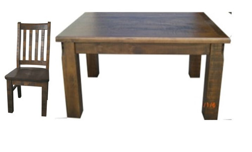 CALISTA (COB9P-1.5) 9 PIECE DINING SETTING - 1500(W) x 1500(D) - ROUGH SAWED