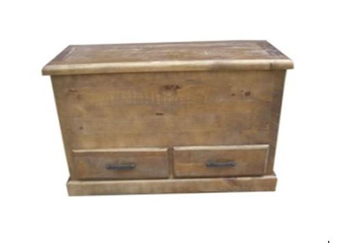 COBAR (COBBB) BLANKET BOX WITH 2 DRAWERS - ROUGH SAWED (DARKER THAN IMAGE)