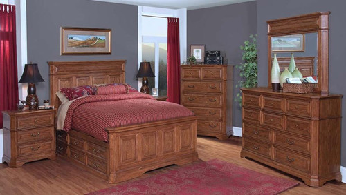 FELTON QUEEN  5  PIECE DRESSER  BEDROOM SUITE (11-9-14-7-19-15-14)