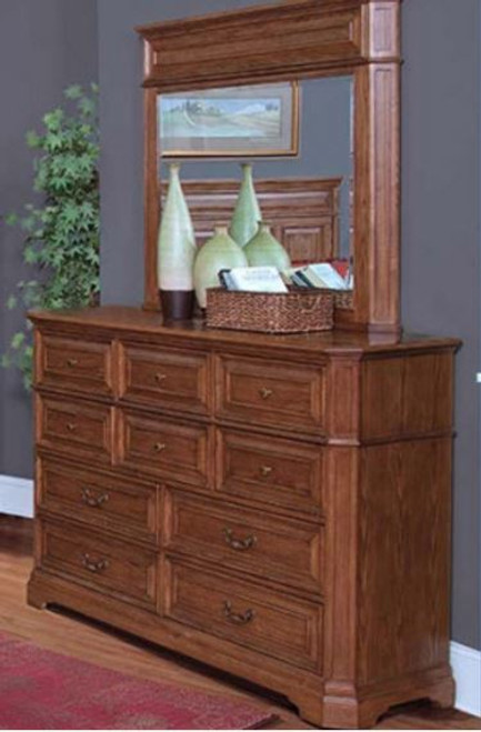FELTON  DRESSING TABLE & MIRROR WITH 10 DRAWERS(11-9-14-7-19-15-14)