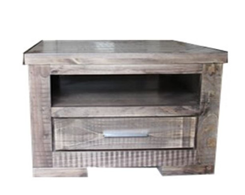 RUSTIC 1 DRAWER  LAMP TABLE (RTLT)  650(W) - RUSTIC