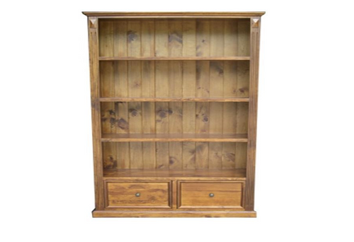 WARATAH (WBC-2) 4 SHELIVING BOOKCASE WITH 2 DRAWERS -1800(H) x 1100(W)