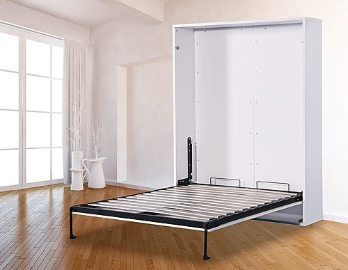 DOUBLE WISCON WALL BED - MATT WHITE