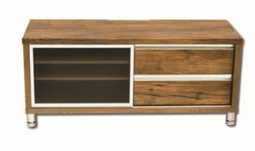 ELISE ENTERTAINMENT LOWLINE UNIT  518(H) x 1200(W)  - ANTIQUE OAK