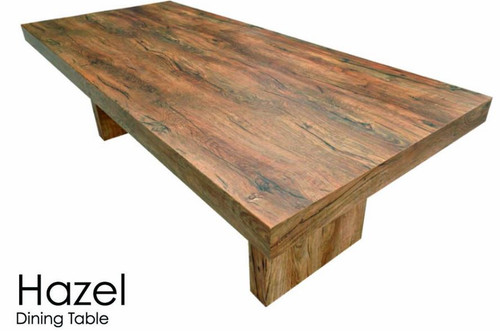 HAZEL THICK TOP DINING TABLE - 2400(L) X 1050(W) - ANTIQUE OAK