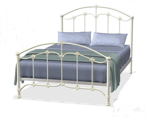 DOUBLE KNIGHTSDALEE BED - ANTIQUE WHITE