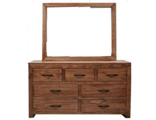 FRANK  7 DRAWERS DRESSER WITH MIRROR - 875(H) X 1480(W) -   BALTIC(#503) OR WALNUT (#400)
