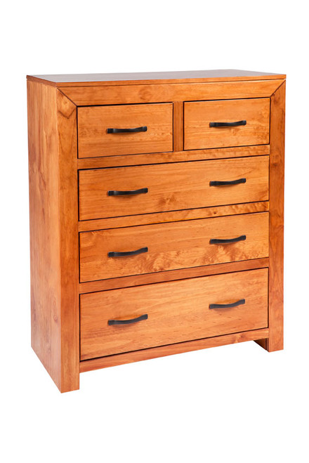 BUSTIN 5 DRAWER SPLIT TOP TALLBOY - 1180(H) X 940(W) -  (6-18-1-14-11) - BALTIC(#503) OR WALNUT (#400)