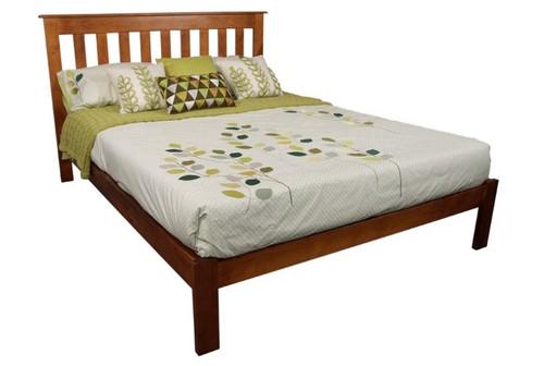 KING SINGLE CRONULLA CRKSB(b) BED WITH DOONA FOOT - BALTIC(#215), WALNUT(#219) OR GREY WASH(#501)