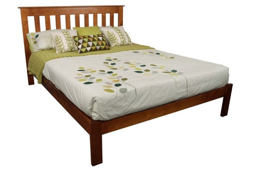 DOUBLE CRONULLA (CRDBB) BED WITH DOONA FOOT - ROSEWOOD(#), OLD ENGLISH(#215) OR WALNUT(#219)