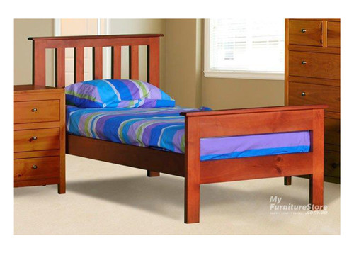 SINGLE FEDERATION (AUSSIE MADE) BED WITH 2 RAIL FOOT END - ASSORTED COLOURS