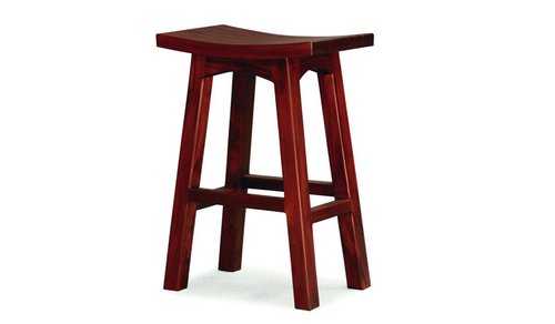LATSON WOODEN BAR STOOL / KITCHEN BENCH (BR077WD) - SEAT: 770(H) - MAHOGANY , CHOCOLATE OR LIGHT PECAN
