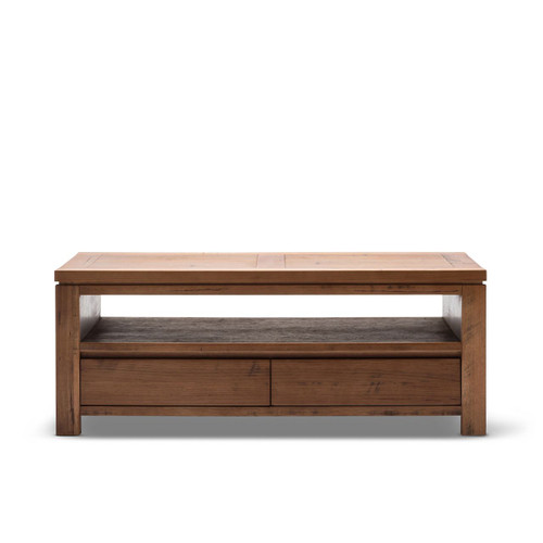 PARKAH  SOLID TASMANIAN OAK COFFEE TABLE  WITH 2 DRAWERS  - 1300(W) X 700(D) (16-13-11-5-18 )