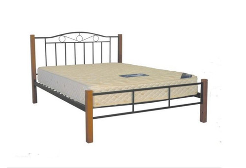 QUEEN SWEETDREAM    BED - ANTIQUE OAK / BLACK