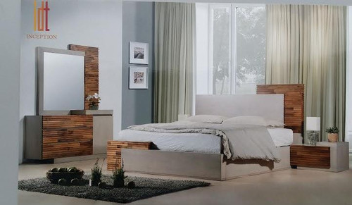 EMBRACE  KING 4 PIECE TALLBOY    BEDROOM SUITE (12-9-26-1)  - ARTISAN OAK / NATURAL